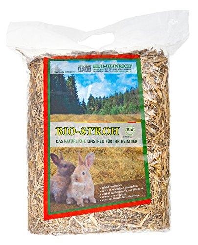 HEU-HEINRICH® 6 x 1kg Bio - Stroh - weiches Einstreu für Ihr Heimtier (Misc.)