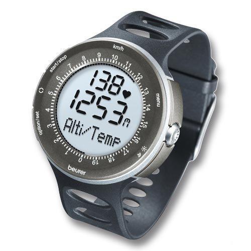 Beurer connect pm 90 cardiofrequenzimetro con misurazione di altitudine, nero