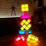 StarTec Tetris-Leuchten, Überlagerten Puzzle-LED-Induktion Verriegelungs Tischlampe, 3D-Spielzeug Kinder Können Leicht DIY Gestapelt Magic Dekorative Lichter,Usb8christmasmusic