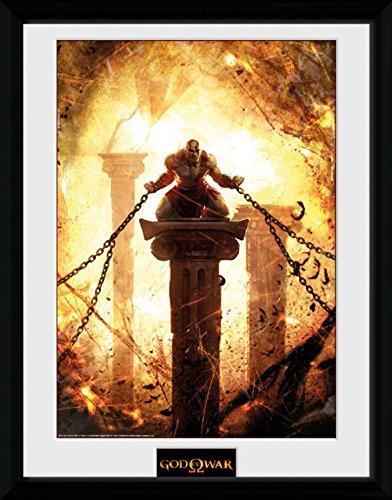 Preisvergleich Produktbild 1art1 100222 God Of War - Kratos Chained Gerahmtes Poster Für Fans Und Sammler 40 x 30 cm