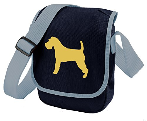 Bag Pixie - Borsa a tracolla unisex adulti Fawn Dog Blue Bag
