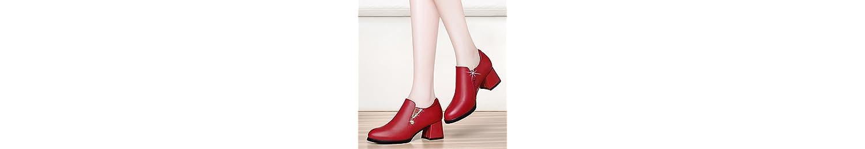 KPHY-La Edad Media De Las Mujeres Zapatos De Tacones Altos De Cuero El Otoño Con La Madre Es Solo Zapatos Mujeres... -