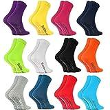 Rainbow Socks Antirutschsocken by BAUMWOLLE Reich, Komfort für Jeden Tag, ideal für: Glatte Fußböden, Yoga, Trampolinspringen| BUNT für Frauen und Männer, Oeko-Tex-Zertifikat, in EU produziert