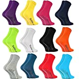 Rainbow Socks - Damen Herren Bunte Baumwolle Antirutsch Socken ABS