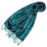 Lorenzo Cana - Pashmina Damen Schal Schaltuch hochwertig kuschelweich und leicht Damenschal Stola 70 cm x 180 cm opulentes Paisley Muster aufwändig gewebt 78148