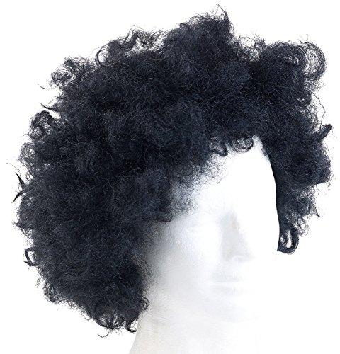 Afro 70 Mit Kostüm S - infactory Kunsthaar-Perücke: Perücke Afro (Kunshaar-Perücken)