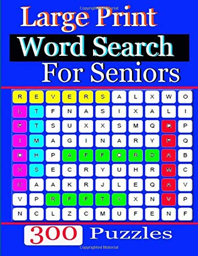 Word Search Large Print For Seniors: Large-Print Puzzles word search  print for seniors por jaidee kan