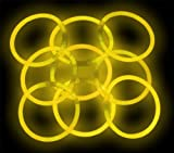 """8"""" Lumistick Glowstick Glow Stick Bracelets Yellow (500 Bracelets)"""