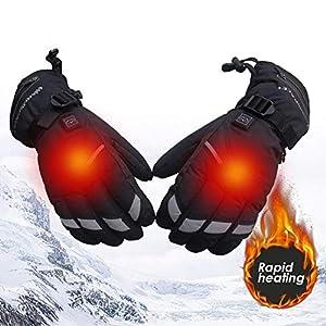Massage-AED Elektrisch beheizte Handschuhe 5-stufige Einstellung USB-Handwärmer Aufladen Heizung Fingerheizung Warme Sicherheit Konstante Warme Handschuhe