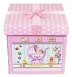Das Kostümland Baby Shower Party Geschenkbox - Rosa - Zauberhafte Verpackung Gastgeschenk zur Geburt Mädchen