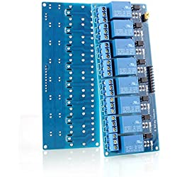 neuftech de 8CH 5V 8canales Módulo de relé de tabla para Arduino PIC DSP AVR ARM Módulo de relé