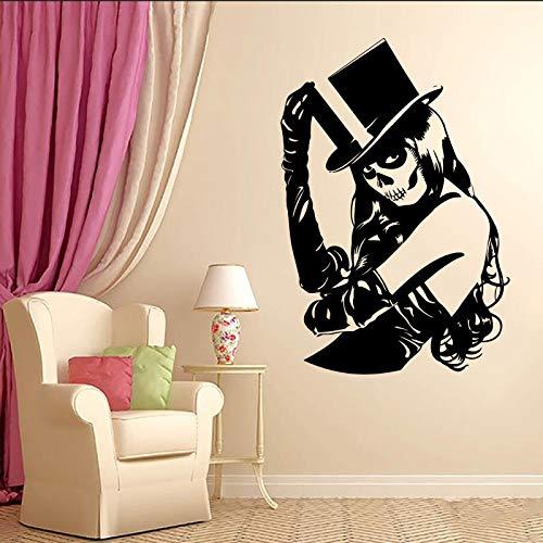 Grüner Zucker schädel sexy Girl Zombie Crippy PVC Vinyl wandaufkleber Wohnzimmer wandtattoos Kunst wohnkultur tapete wandbild 57 * 80 ()