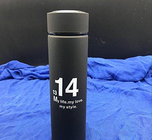 HK-9009 Outdoor-Sport-Serie Liebhaber Tasse 500ml Hochwertige Vakuumisolierung Big Travel Wasser Tasse Heiß Und KaltgeträNk Mug, Schwarz/Weiß , Black , B Go Travel-cup-kessel