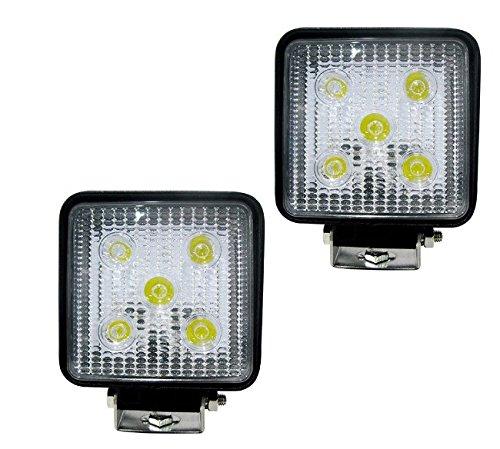 215W LED-Arbeitsleuchte  quadratisch Licht Auto Scheinwerfer Offroad/LKW/Boot fahren Licht Wasserdicht Nebel Beleuchtung schwarz Spot-Licht Flutlicht (Größe: 128* 110* 46mm)