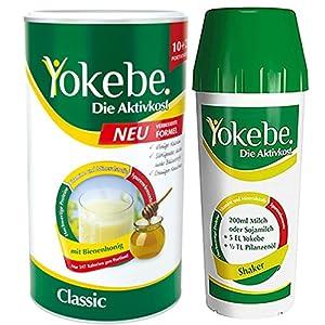 Yokebe Classic Neu mit Shaker, Diätshake zum Abnehmen, Mahlzeitersatz mit hochwertigen Proteinen, 12 Portionen, 480 g und 1 Shaker