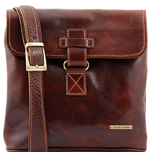 Tuscany Leather Andrea Borsello in pelle a tracolla Rosso Marrone