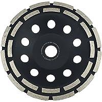 Muela de copa diamante 180 mm x 22,2 estándar para materiales abrasivos rodamiento doble diamante muela de copa 180 mm