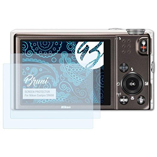 Bruni Schutzfolie kompatibel mit Nikon Coolpix S9600 Folie, glasklare Displayschutzfolie (2X) (S9600 Kamera Coolpix Nikon)