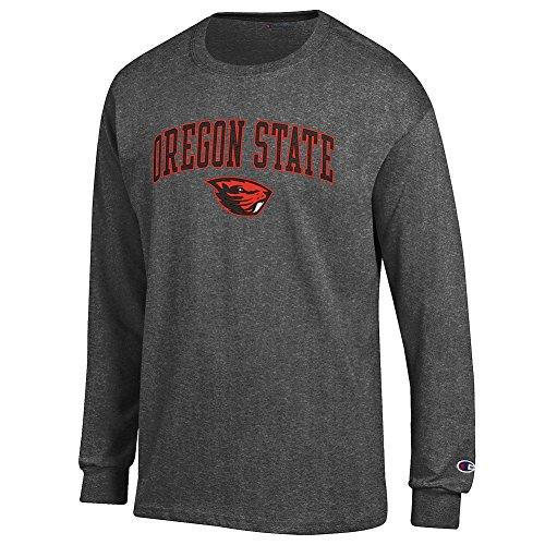 eLITe NCAA Herren Langarmshirt Oregon State Beavers Dunkelgrau, Anthrazit, Größe M (Board Cover Dart)