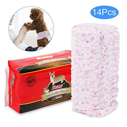 RCruning-EU Windeln für Hündinnen Hunde Windeln Pet Weiche Weiblich Windeln -14Pack (M:5-8KG)