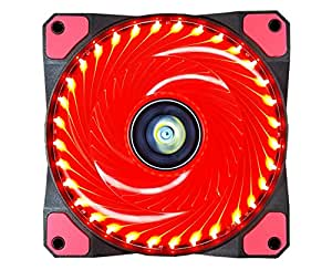 CONISY 120 mm Ventola pc 120mm led di Raffreddamento fantastic Ventilatore Ultra silenzioso cuscinetto raffreddamento gaming 12v 3pin per computer case cooling fan (rosso)