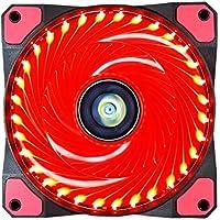 Ventilador de PC,CONISY 120 mm LED Gaming Ultra Silencioso Ventiladores para Caja de Ordenador - Rojo