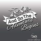 And So The Adventure Begins Caravan Camper Van Car Window Bumper Vinyl Decal Sticker