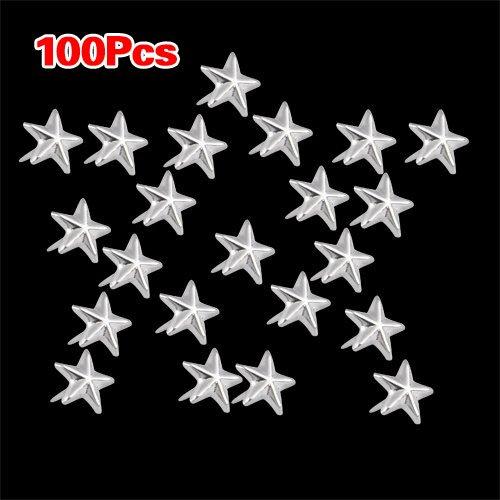 sodialr-100x-apliques-remaches-plata-7mm-estrella-tachuelas-bolsa-calzado-guante