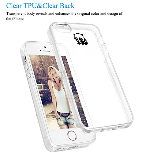 Custodia iPhone SE 5S Cover, JEPER Ultra Thin Slim Flessibile Crystal Clear Trasparente Premium TPU Silicone Gel Assorbimento Urto Anti-Scratch Case per Apple iPhone 5 08