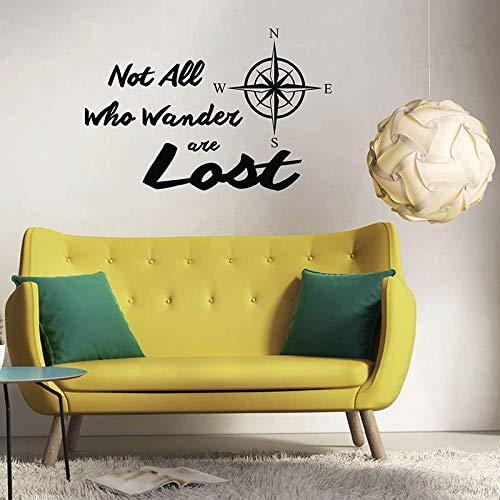 slogan kompass thema wandtattoo wandbild kind teen zimmer wohnzimmer vinyl dekoration aufkleber 64x42 cm