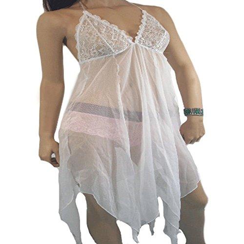 www.lingerie24-7.com - Chemise de nuit -  Femme Blanc - Blanc