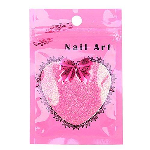 Vococal® Poudre d'Ongle 10g Nail Art Glitter Nail Art Décoration Outils Couleur Aléatoire d'Emballage Sachet Rose Rouge