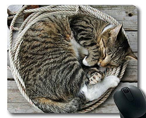 Mausunterlage, Seil Tierkatze Mausunterlage, Mausunterlage für Computer cat211