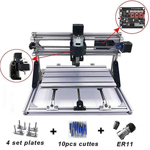 Laser-carving-messer (Fräsmaschine CNC 3018 Fräsmaschine Arbeitsbereich 300 * 180 * 45mm DIY CNC Router Maschine GRBL Control 3 Achsen Mini Holz PCB Acryl Fräsmaschine Metall Gravur Carving Maschine)