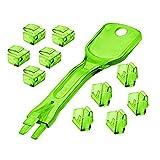 Lindy Aufputzdosen (5Pakete 10Schlössern RJ45mit Schlüssel, grün