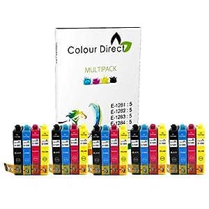 20 XL Colour Direct Haute Capacité Cartouches D'encre Compatibles Pour Epson Stylus S22 SX125 SX130 SX230 SX235W SX420W SX425W SX430W SX435W SX438W SX440W SX445W SX445WE Epson Stylus Office BX305F BX305FW imprimeur 5 Noir 5 Cyan 5 Magenta 5 Jaune