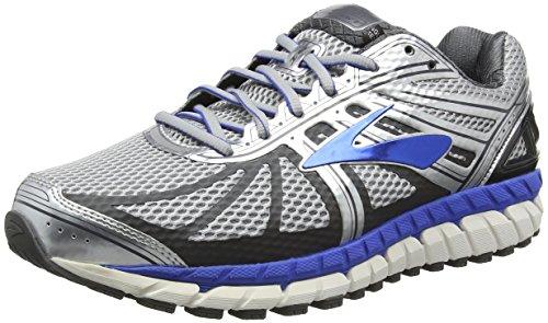 Brooks Herren Beast '16 Laufschuhe, Silber (Silver/Blue), 44 EU,Breite 4E (4e Breite Schuhe)