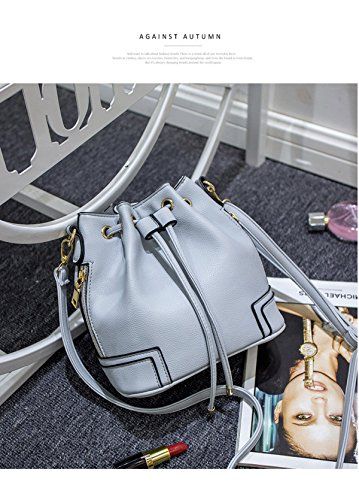 FZHLY Nuovo Sacchetto Modo Europeo E Americano Cintura Benne Spalla Del Messaggero,Grey Grey
