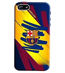 Clarks Fcb Hard Plastic Printed Back Cover/Case For Apple iPhone 5s