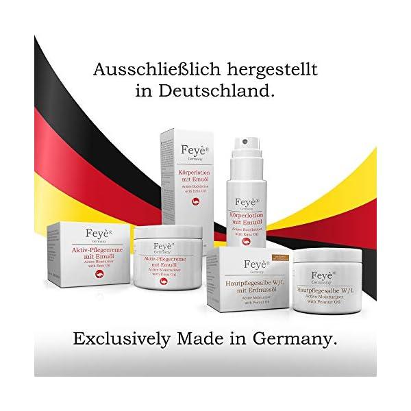 FEYȮ Crema, loción – para neurodermatitis, psoriasis y piel seca – crema para la comezón, enrojecimiento e inflamación – con aceite de emú