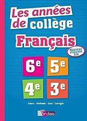 Les Années de Collège Français Tout pour Réussir - Nouveau programme 2016