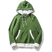 Sudadera con capucha azul blanco y verde y blanco con capucha suéter de moda japonesa,Verde,XL