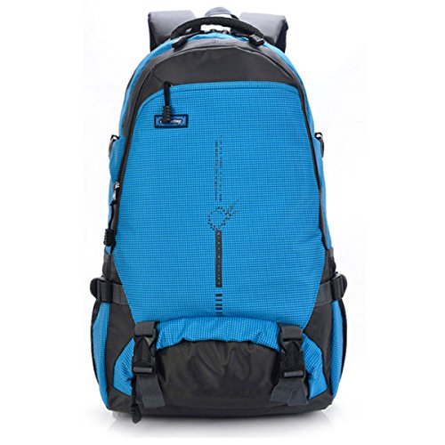 Sacchetto Di Alpinismo Impermeabile Dello Zaino Impermeabile All'aperto Sacchetto Di Spalla Doppio Di Viaggio Di Grande Capacità,Black Blue