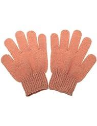 1 Paar Peeling Badhandschuh Dusche Hautpflege Wäscher Massage Sauber Handschuh Peelinghandschuh - Orange