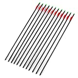 12 Stück Carbonpfeile für Recurvebogen Training Bolzen Pfeile Compound Armbrust (B, 30zoll)
