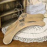 Vintage Kleiderbügel 3er-Set Holzkleiderbügel Bügel Landhaus Shabby Handarbeit