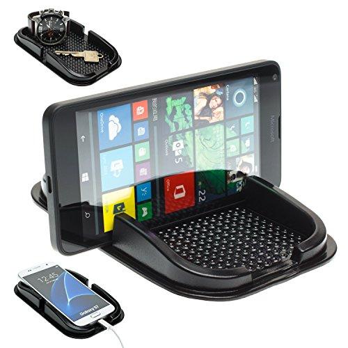 mobilefox® KFZ Auto Anti Rutsch Matte Haft Pad Armaturenbrett Handy Halter Microsoft Lumia 950/930 / 830/730 / 650/640 / 550 / XL / 1520/1020