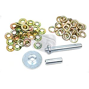 51AqHyxvEOL. SS300  - Tarpaulin Repair Kit Replacement Brass Eyelets with Hole Punch Set Camping Tent