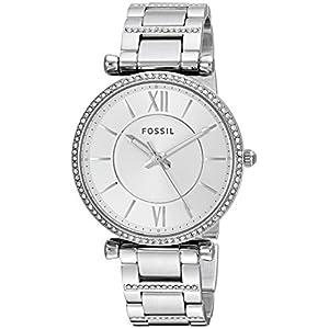 Fossil Damen Analog Quarz Uhr mit Edelstahl Armband ES4341