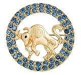 Gnzoe Bijoux, Femme Broche Faux Diamant Constellation Forme De Mariée Mariage Broche Pins la Mariée Pour Mariage Bleu